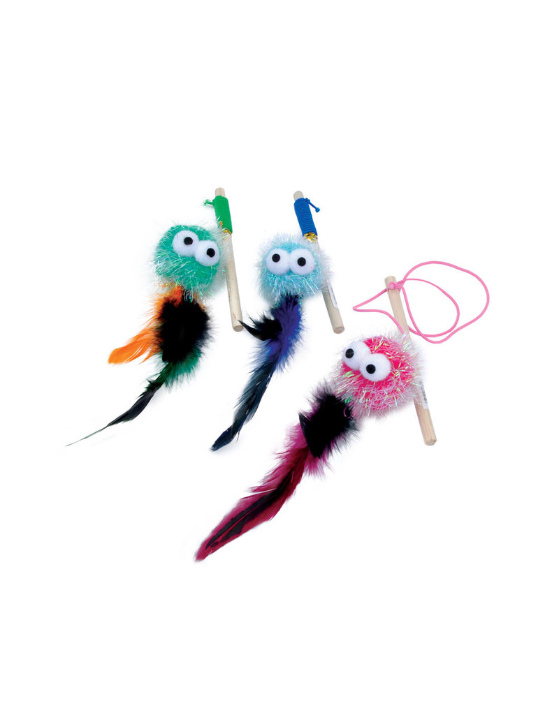 COASTAL PET PRODUCTS COASTAL Turbo Monster Wand with Feathers Cat Toy