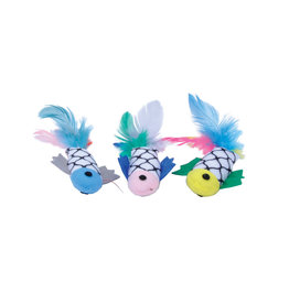 COASTAL PET PRODUCTS Turbo Fish with Feathers Cat Toy