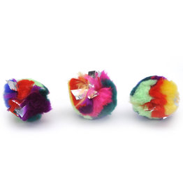 "COASTAL PET PRODUCTS Turbo Krinkle Balls 2.25""  Cat Toy"