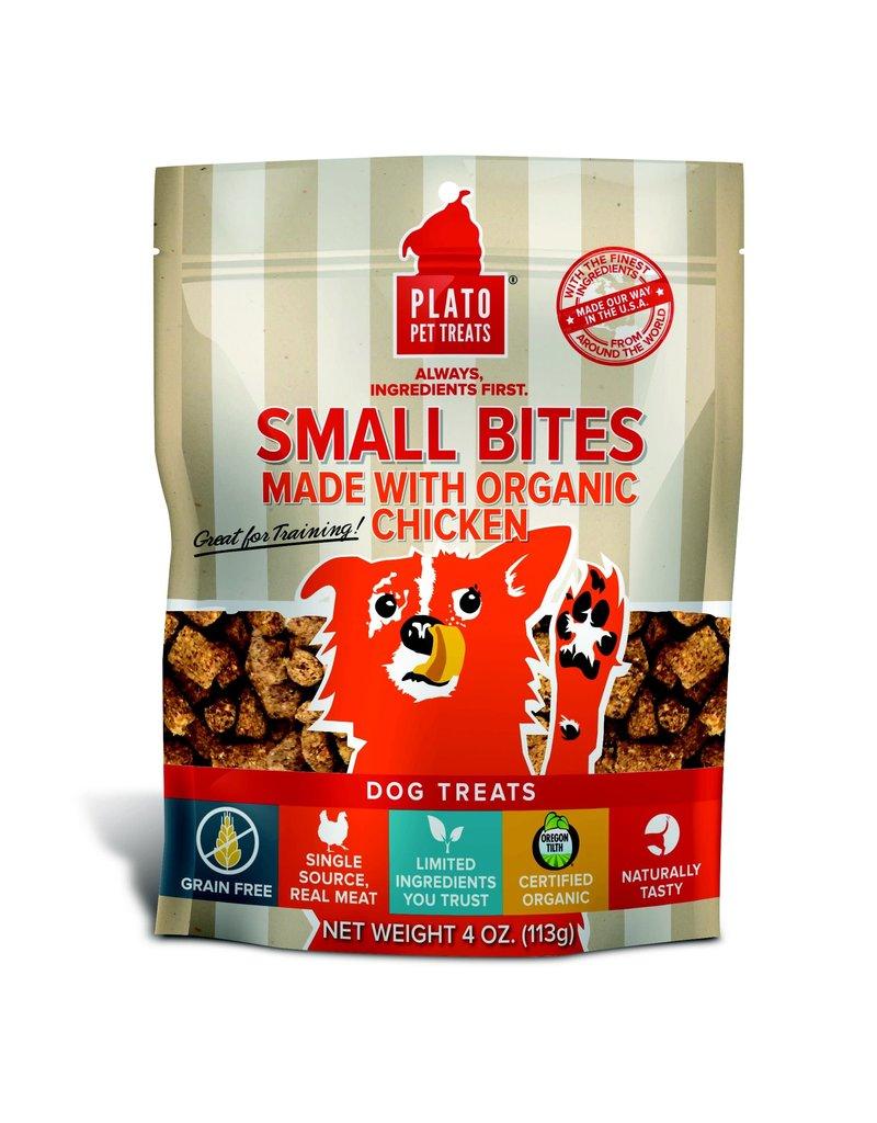 Plato Pet Treats PLATO Small Bites Grain-Free Chicken Dog Treats 4 oz.