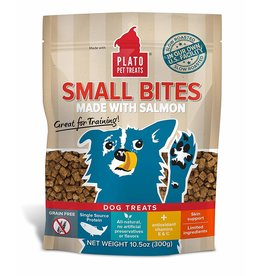 Plato Pet Treats !PLATO Small Bites Grain-Free Salmon Dog Treats 4 oz.