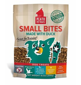 Plato Pet Treats !PLATO Small Bites Grain-Free Duck Dog Treats 4oz