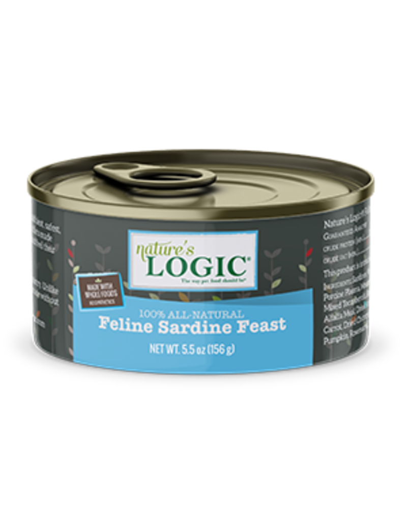 NATURE'S LOGIC NATURE'S LOGIC Sardine Canned Cat Food 5.5oz CASE/24