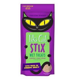 TIKI TIKI Cat Stix Mousse Duck Cat Treat 3oz CASE/12