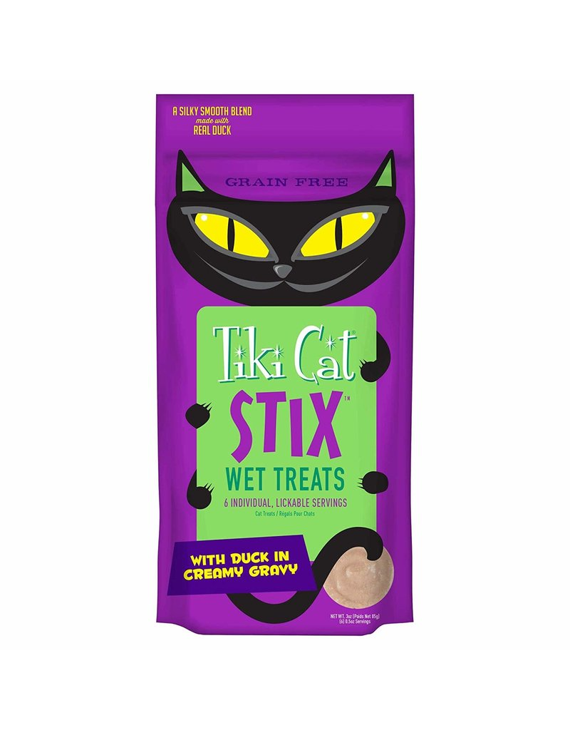 TIKI TIKI Cat Stix Mousse Duck Cat Treat 3oz CASE/12
