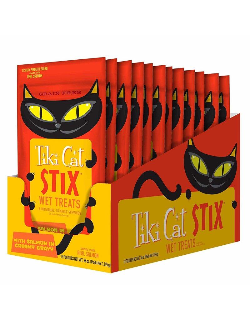 TIKI TIKI Cat Stix Mousse Salmon Cat Treat 3oz
