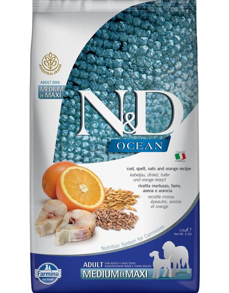 Farmina FARMINA Natural & Delicious Ancestral Grain Ocean Cod Adult Medium & Maxi