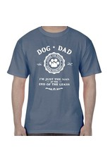 SPOILED ROTTEN DOGZ Dog Dad Man at the End of the Leash Unisex Tshirt