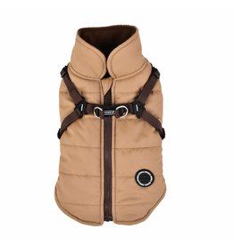 PUPPIA PUPPIA Mountaineer Coat II with Harness Beige
