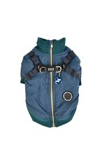PUPPIA PUPPIA Dominic Coat with Harness Teal