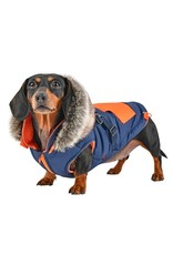 PUPPIA PUPPIA Orson Coat with Harness Navy