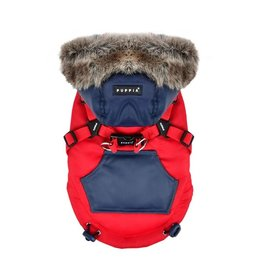 PUPPIA PUPPIA Orson Coat with Harness Red
