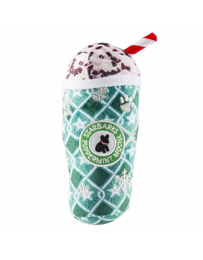 Haute Diggity Dog Starbarks Puppermint Mocha Green Stars Print Cup