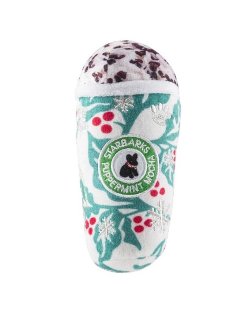 Haute Diggity Dog Starbarks Puppermint Mocha Holly Print Cup