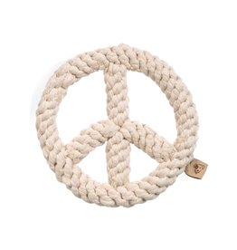 Jax & Bones GOOD KARMA Peace Rope Toy Natural