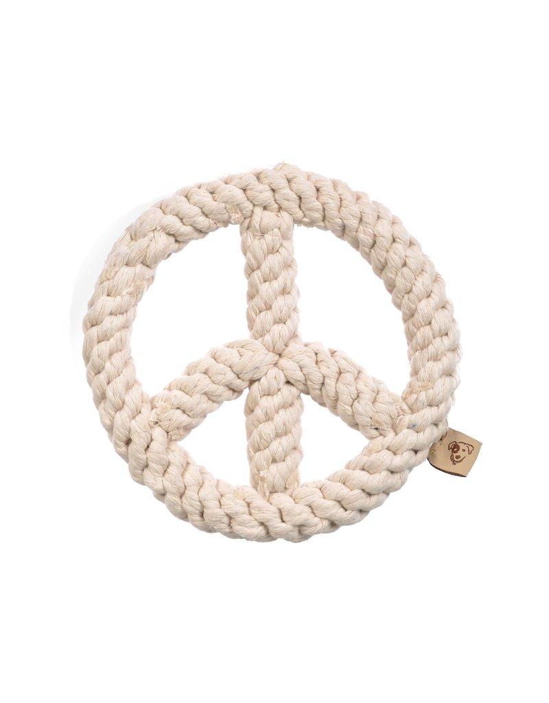 Jax & Bones GOOD KARMA Peace Rope Toy Natural
