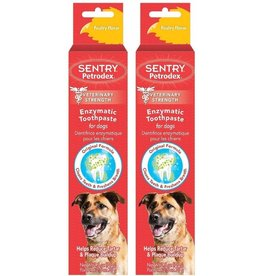 SENTRY PETRODEX Enzymatic Toothpaste for Dogs Poultry Flavor 6.2 oz