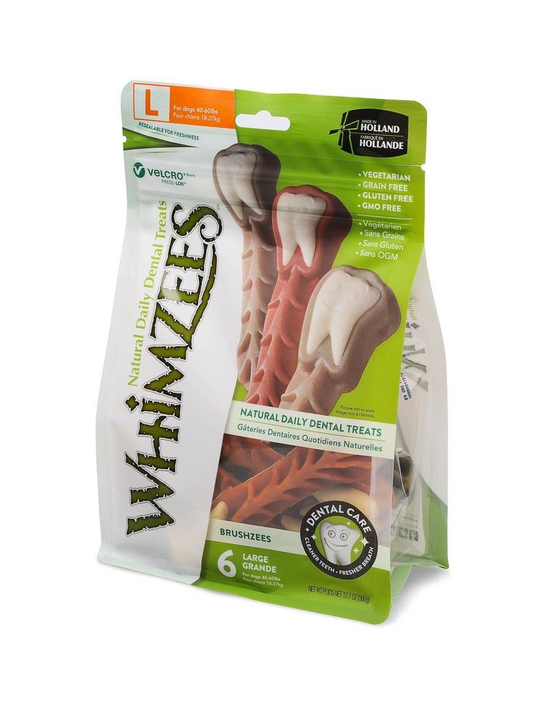 Whimzees WHIMZEE Dog Brushzees Large 12.7 oz.