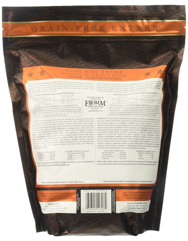 Fromm FROMM 4 STAR Grain-Free Game Bird Dry Cat Food