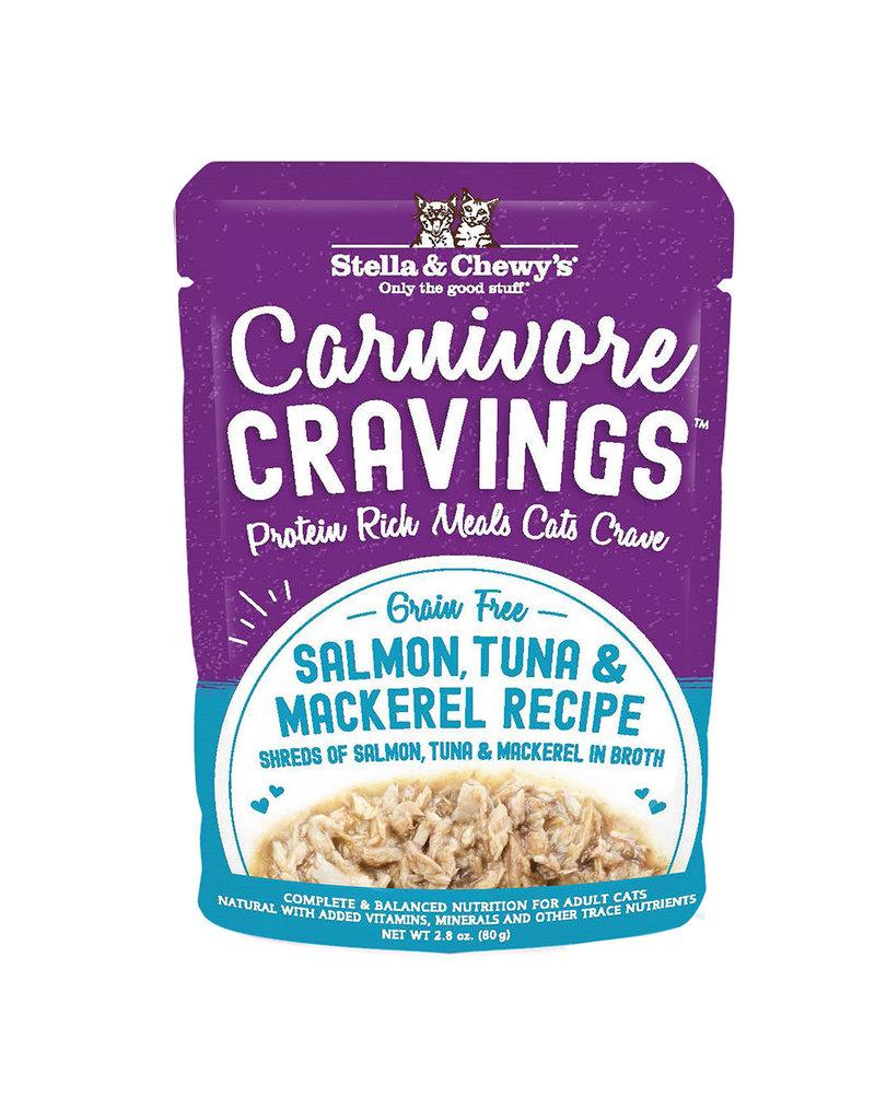 Stella & Chewys STELLA & CHEWY'S Carnivore Cravings Salmon, Tuna & Mackerel Cat Food Pouch