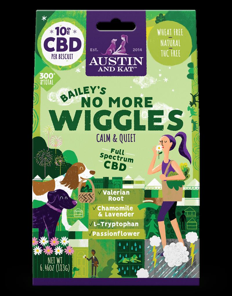 AUSTIN & KAT AUSTIN & KAT Bailey's No More Wiggles 10mg Full Spectrum CBD Functional Biscuits 30ct