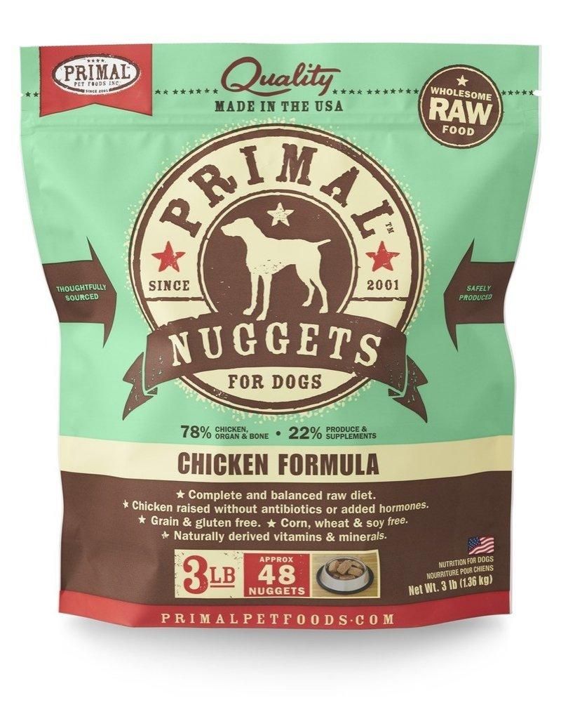 Primal Pet Foods PRIMAL Raw Frozen Canine Chicken Formula  3 lb.