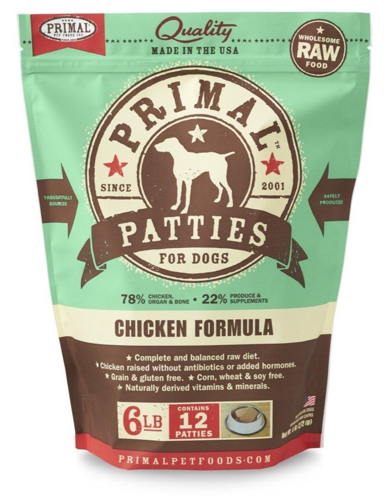 Primal Pet Foods PRIMAL Raw Frozen Canine Chicken Formula  6 lb.