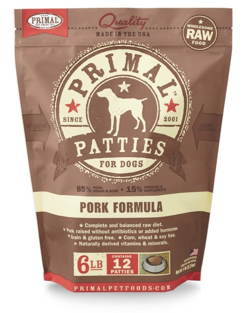 Primal Pet Foods PRIMAL Raw Frozen Canine Pork Formula  6 lb.