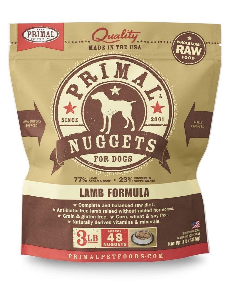 Primal Pet Foods PRIMAL Raw Frozen Canine Lamb Formula  3 lb.
