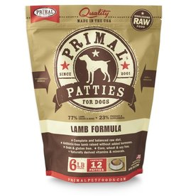 Primal Pet Foods PRIMAL Raw Frozen Canine Lamb Formula  6 lb.
