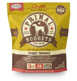 Primal Pet Foods PRIMAL Raw Frozen Canine Rabbit Formula  3 lb.