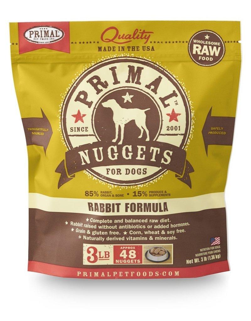 Primal Pet Foods PRIMAL Raw Frozen Canine Rabbit Formula  3 lb.