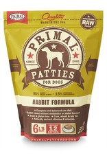 Primal Pet Foods PRIMAL Raw Frozen Canine Rabbit Formula  6 lb.