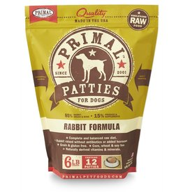 Primal Pet Foods PRIMAL Raw Frozen Canine Rabbit Formula  6 lb.