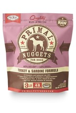 Primal Pet Foods PRIMAL Raw Frozen Canine Turkey & Sardine Formula  3 lb.