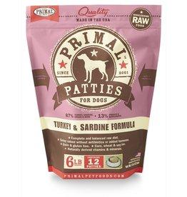 Primal Pet Foods PRIMAL Raw Frozen Canine Turkey & Sardine Formula  6 lb.