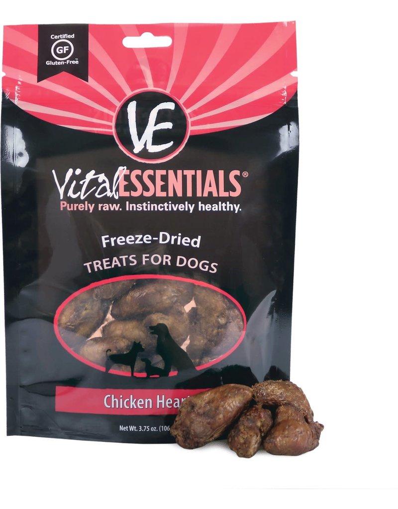 Vital Essentials VITAL ESSENTIALS Freezedried Chicken Hearts Dog Treats
