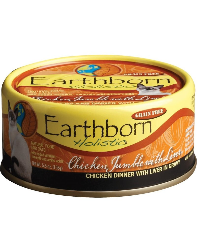 Earthborn EARTHBORN HOLISTIC Chicken & Liver Jumble Grain-Free Canned Cat Food Case 24/5.5oz