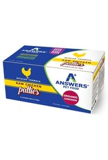 Answers ANSWERS Frozen Raw Canine Detailed Chicken 8 -8 oz Patties