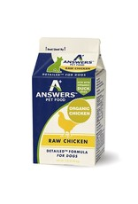 Answers ANSWERS Frozen Raw Canine Detailed Chicken