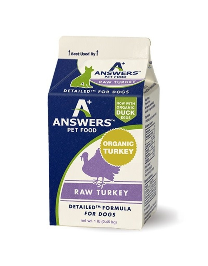 Answers ANSWERS Frozen Raw Canine Detailed Turkey
