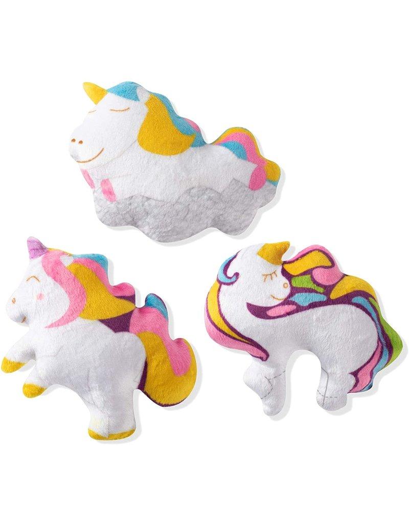 Fringe Studio FRINGE Unicorns 3 Piece Plush Dog Toy