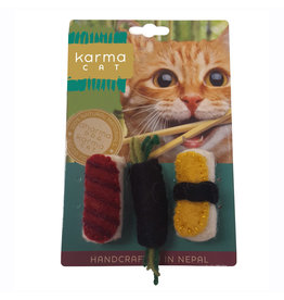 KARMA CAT KARMA CAT 2-pack Sushi Felt Cat Toys