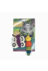 KARMA CAT KARMA CAT 2-pack Caterpillar & Butterfly Felt Cat Toys