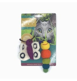 KARMA CAT KARMA CAT 2-pack Caterpillar & Butterfly Felt Cat Toys