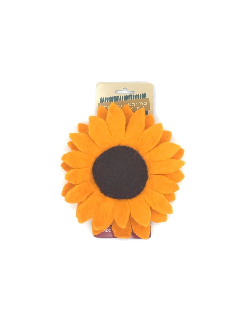 DHARMA DOG DHARMA DOG Felt Sunflower Collar Blossom