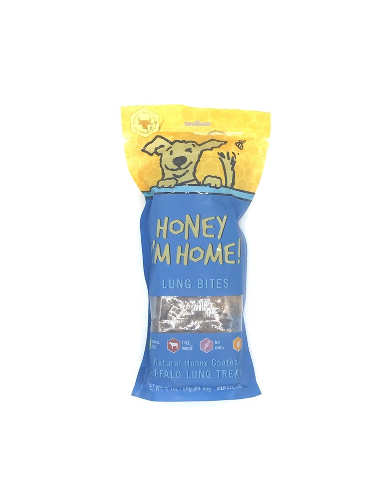 Honey I'm Home HONEY I'M HOME Buffalo Lung Bites Dog Treat 3.1 oz.