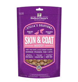 Stella & Chewys STELLA'S SOLUTIONS Skin & Coat Boost Duck & Salmon Dinner Mixers for Cats 7.5oz