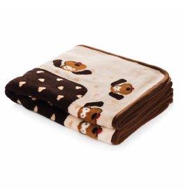SmartPetLove SMARTPETLOVE Snuggle Blanket Brown Hearts