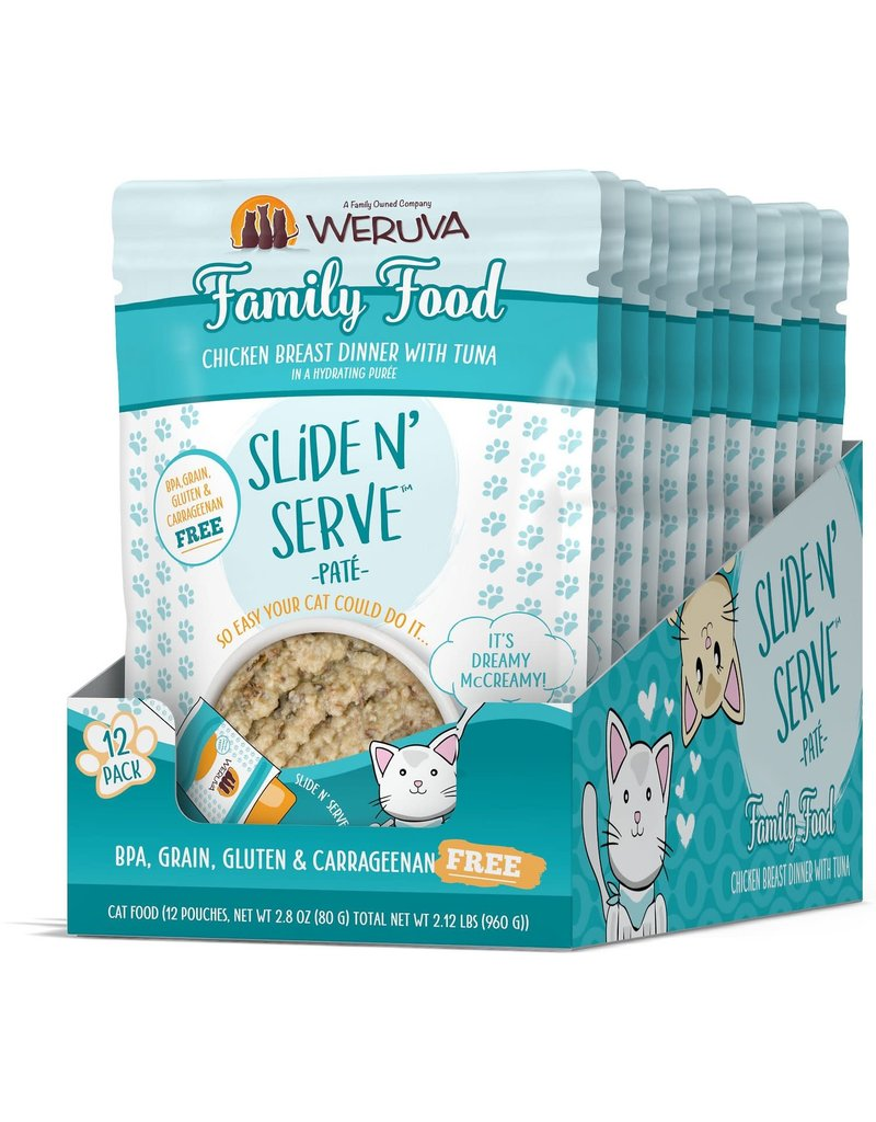 Weruva WERUVA Cat Slide N Serve Pouch Pate Family Food 12/Tray